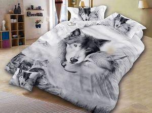 أغطية فراش الذئب الرمادية الجميلة غلاف لحاف الذئب عين غطاء 3d Vivid Fifient Cover 3pcs Twin Full Queen King Y200417