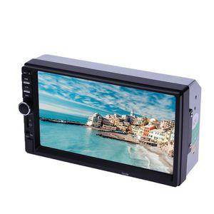"2 Din Car Radio 7 ""HD Autoradio Multimedia Player 2din Touch Screen AUTH AUDIO AUDIO CAR STEREO MP5 Bluetooth USB TF FM Cámara"