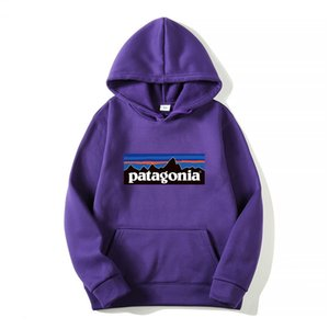 Mens Patagonia Hoodie Light Fleece Sweatshirts Fashion Long Sleeve Hooded Pullovers 14 Colors Classic mountain Print Tops Mens Sportswear