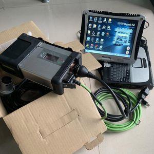ferramenta MB ESTRELA C5 OBD2 Diagnostic com CF-19 touchscreen laptop cf19 instalado 360gb ssd macio-ware com SD conectar 5 scanner automático