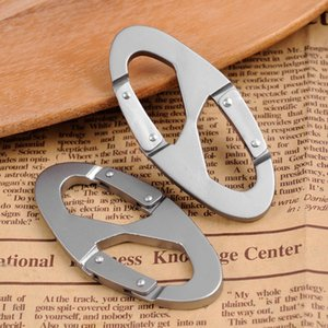Туризм 8 Форма Альпинизма крюк кольцо Блокировка карабина Screw Lock Висячие Пряжка зажимы Алюминиевый сплав Открытый брелок для Backpack