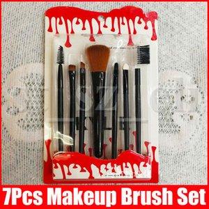 Maquillage Pinceaux Maquillage Outils Make Up Trousse de toilette brosse cosmétiques Set Pinceau fond de teint professionnel 7 PCS