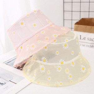 2020 nuevo diseñador de malla súper delgada sombrero del cubo amarillo las mujeres de color rosa de verano transpirable unisex sombrero de pesca sombrero de protección de sol al aire libre cofia