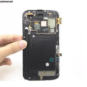 ORIWHIZ LCD original para Samsung Galaxy Note 2 N7100 N7105 Pantalla LCD táctil con el marco de la asamblea completa Piezas de repuesto