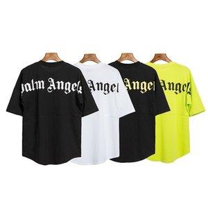 2020SS primavera e verão novo Palm PA Anjos carta clássico impressa de mangas curtas casuais morcego queda da luva do ombro T-shirt de alta qualidade dos homens