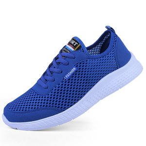 New summer mesh shoes breathable men and women mesh casual sports shoes oversized men's shoes 35-50