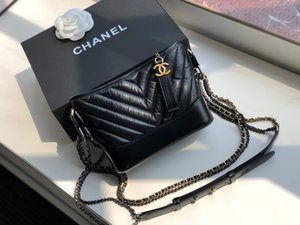 New women's one-shoulder bag 7A high-end custom quality diagonal cross bag fashion trend leisure style five metal accessories with long shou