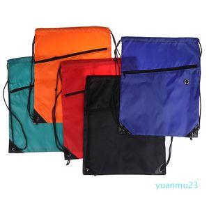 Wholesale-Nylon Drawstring Personalized Training Backpack Girl Bag School Sports Waterproof Sack Gym Tote Bag School Sport Travel Pack