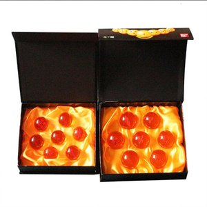 7Pcs set DragonBall 7 Stars Crystal Ball Dragon Ball Z Balls Complete Set 3.5 cm 4.5cm In Diameter Box Packaged Y191105