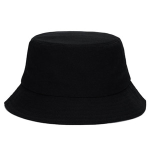 10 unidsNegro Unisex Bucket Caza Pesca al aire libre Cap hombres de las mujeres del verano Sun Hat C19041201