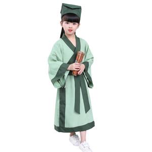 han dinastia bambini costume cinese studente antica dinastia cosplay Halloween vestiti abbigliamento scuola materna di performance
