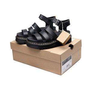 Frauen Designer Gladiator-Sandalen Frauen Sommer kausale Schuhe bequem echtes Leder d Schnalle Plateausandale Größe 35-40 mit dem Kasten
