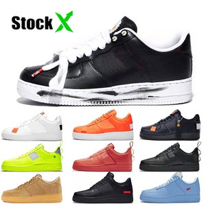 ♪ Hot Selling Dunk 1 Para-noise ♪ ♪ One Mens Running Shoes Sup White Black Low MCA Blue Utility Volt Red Just It Orange Sneakers ♪
