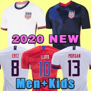 4 별 NEW 월드컵 2020 미국 PULISIC 축구 유니폼 브래들리 LLOYD 알티 도어 2021 WOOD 미국 축구 유니폼 미국 셔츠 Camisetas
