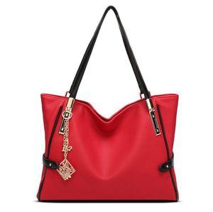 kadın çantası Avrupa ve Amerikan Retro moda kadın çantası büyük kapasiteli omuz çantası patlama modelleri