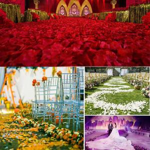 Шелковая Роза Лепесток Искусственных цветов Лепестки Сад Главной свадьба отель Украшение цветок Лепестки 100шт / набор