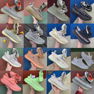 Kanye West Kanye Negro reflexivo de los zapatos corrientes Zyon Cinder 3M luz de la cola para mujer para hombre de lino blanco de la nube Lundmark Beluga 2.0 con la caja