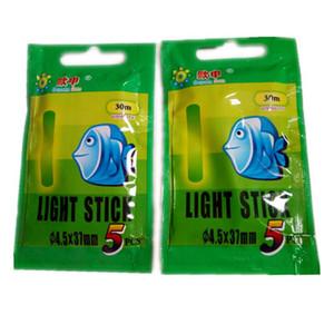 hxlsportstore 4,5 * 37 millimetri pesca di notte luminosa galleggiante attrezzi per la pesca luce fluorescente bastone Rod Multi-Color LightsDark Glow Stick