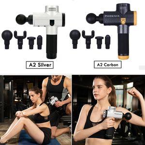 Phoenix A2 Muskel-Massage Gun Deep Tissue Massagetherapie Gun Fitnesstraining Schmerzlinderung Körpermassager- Muskelregeneration Fascia Gun