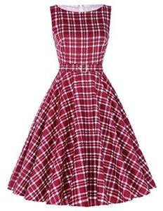 벨 Poque 빈티지 민소매 칵테일 드레스 벨트 저녁 파티 BP02