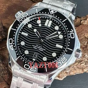 Top Herren-Uhr Professionelle 300M James Bond 007 Männer Grau Dial Automatik-Uhrwerk mechanische Uhr Herrenuhren Selbst Wind Armbanduhren
