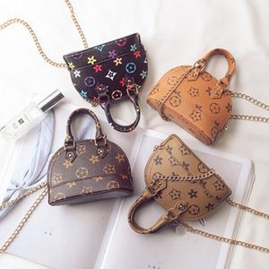 Girl Designer Handbags Fashion Luxury Printed Mini Bags Children Girls Brand Purse Messenger Bag Fashion Outer Bags Children Handbags