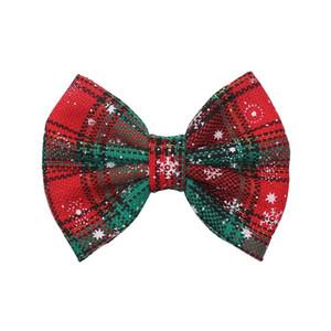 여자 크리스마스 헤어핀 5 인치 크리스마스 눈송이 활 헤어 클립 아기 소녀 귀여운 사이드 클립 소녀 짱구 재미 헤어핀 07 클립
