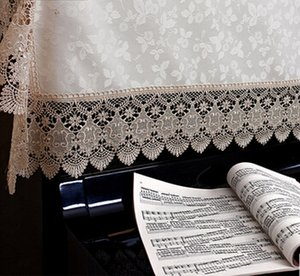 90x180cm Deco Dust Proof Cover Lace Piano Cover General Piano Cloth Home Decoration Wedding Gift 2 Colors Option
