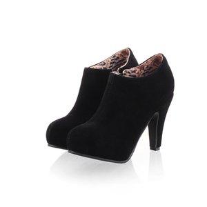 Hot Sale32-45New punta rotonda ginocchio Med Stivali Donne casuale Aumento High Heel 6.5CM modo di c-10