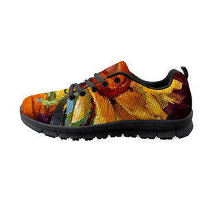 WHEREISART Sunflower Sneaker Farbe Frauen-Turnschuhe Ineinander greifen-Schuhe für Frauen-Ebene-Schuhe Mode Tenis Feminino Drop Gewohnheit