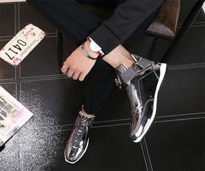 scarpe 2020 economico coreano alla moda stilista s argento oro nero lucido brillante tappeto rosso preferito Mr. eleganti scarpe di qualità