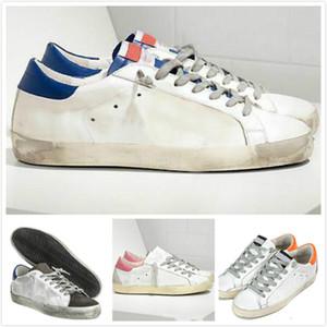 Las zapatillas de deporte de oro blanco clásico Do de edad Hombre Mujeres Italia Deluxe Marca lentejuelas sucio zapatos de diseño Superstar zapatos casuales caja original