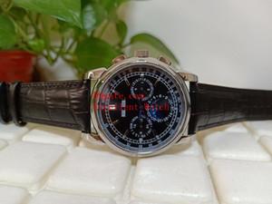 Hot comprar Mens Relógios 40 mm 5270G 5270G-001 Perpétuo Calendário Caixa De Aço Inoxidável Preto Dial Ásia Movimento Automático Bandas De Couro Strap