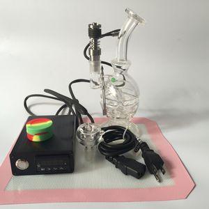 Dnail Portable PID Kit de chauffage de bobine de contrôleur de boîte de contrôleur de temp avec le recycleur épais Oil Rig en verre bong Bol en verre de pipe à eau pour fumer