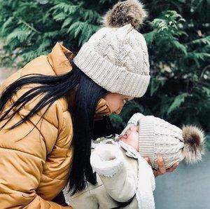 Mother's Baby Cap Parent Cap Children's Twist Knitted Baby Cap In Autumn and Winter