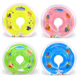 Baby Bath cuello de la natación Flotador inflable círculo de seguridad ajustable Sida natación del bebé del anillo del cuello del bebé Accesorios para Piscinas