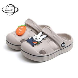 2-5Y kids Mules & Clogs summer baby boys girls croc sandals flat heels rabbit turnip slippers children's garden shoes y17 T200703