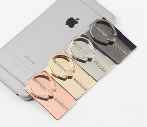 Universal Diamante de luxo Retângulo dedo anelar Mount Holder Stand Holder telefone celular para Samsung Mobile Phones