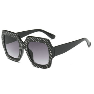 mincl / Oversized Rhinestone gafas de sol cuadradas Mujeres Diamond Shiny Brand Gafas Diseñador Moda Mujeres Sunglasses Shades FML