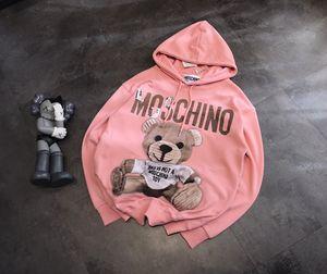 Hotsale di lusso di marca del progettista Maniche lunghe Mens Hoodie delle donne maglione Embroid Orso Marca con cappuccio Pullover Sport di Strada libera la nave JB1 20031207L