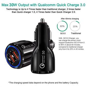 QC3. 0 двойной USB быстрый зарядный адаптер для Samsung Huawei 6A Qualcomm Quick Charge car charger зарядное устройство для телефона с пакетом opp