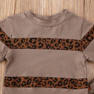 1-5Y 캐주얼 유아 아기 아이 소녀 의류 세트 반팔 T 셔츠 + 바지 의상 Childern 소녀 의상 운동복