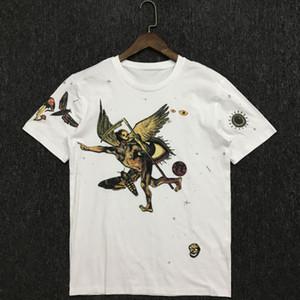 Para hombre verano 20ss estilista T camisas de la manera parejas casuales de manga corta de alta calidad cómodo estrella bordado Hombres Mujeres T-Shir 2 colores