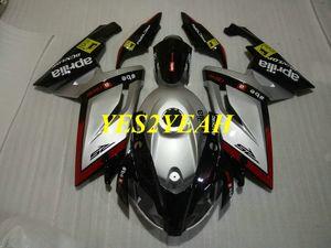 Injection Fairing body kit for Aprilia RS125 06 07 08 09 10 11 RS 125 2006 2011 Silver black Fairings bodywork AA09
