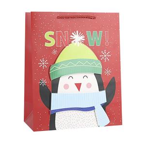 Regalo di carta 12Pcs 3D Buon Natale Candy Box Bag Albero di Natale Confezione Regalo Con Campane Bag contenitore Forniture Navidad