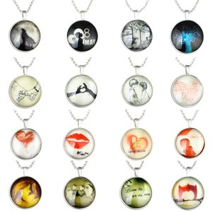 Summer Fashion Pendant Necklaces Chain Round Luminous Necklace Choker Gift YD0529