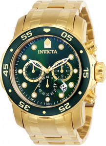 Relojes invencibles Pro buzo reloj de los hombres Modelo 0075 del cuarzo de Japón 48mm Acero inoxidable Cristal llama de fusión para Dropshipping invicto
