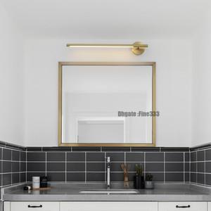 Espelho moderno Led luz quente Wall Light Mounted Muro industrial lâmpada Bathroom Light aço inoxidável impermeável