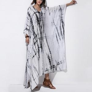 Femminile 2019 bagnarsi Gite abbigliamento delle donne Suit Cover Up Relaxed Tempo libero Collo Stampa Acetato Sierra Surfer