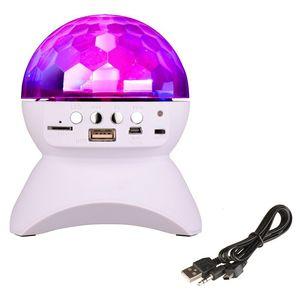 USB TF FM 라디오 RemoteBluetooth SP와 RGB LED 크리스탈 매직 볼 무대 효과 빛 1000mAh의 DJ 클럽 디스코 파티 조명 블루투스 스피커